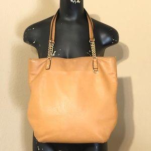 Michael Kors Tan Leather Shoulder Bag Gold Chain